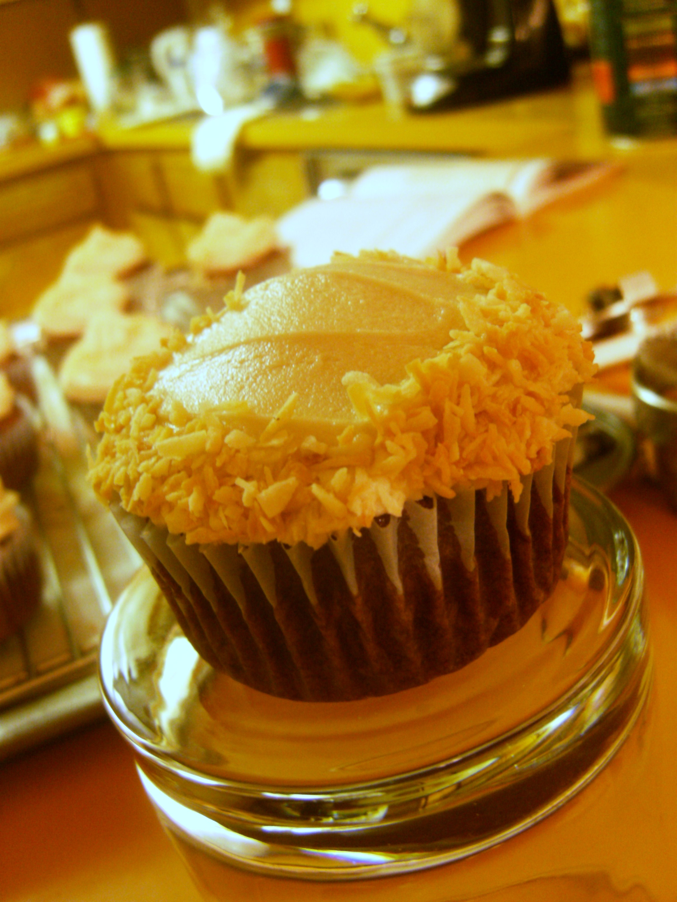 Chocolate Coconut Cupcakes with Coffee Coconut Buttercream Frosting ...